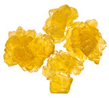yellow crystals of sugar