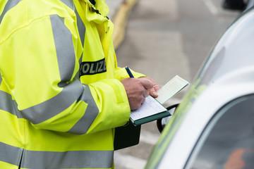Polizeikontrolle - Strafzettel