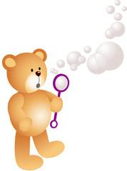 Teddy Bear Blowing Bubbles