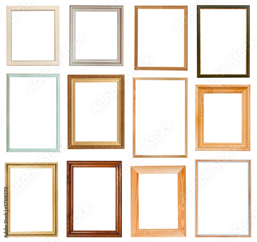 set of vertical picture frames