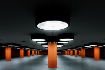 Underground passage at the ICC in Berlin
