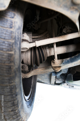 inspection of car suspension
