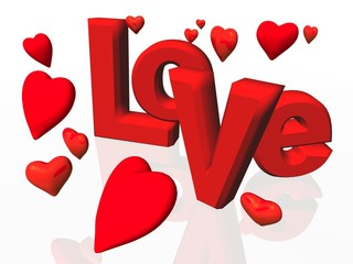 love rain text word hearts