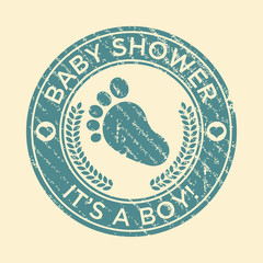 Baby Shower Feet Rubber Stamp