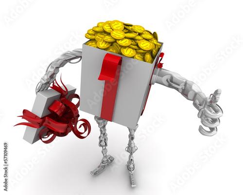 Деньги - лучший подарок. Концепция с американскими монетами