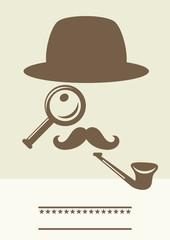 detective retro poster