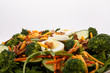 Vegetable Salad with Egg and Bacon