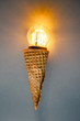 led lamp in ice cream cone, innovation concept - 57111298