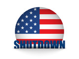 United States Shutdown Government Button