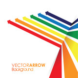 Fototapety a rainbow coloured arrow line perspective background