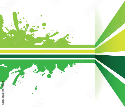 green line splash arrow background