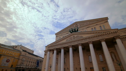 Daylight view of the Bolshoi Theater in Moscow, Russia