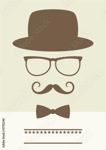 retro gentleman poster with eyeglasses