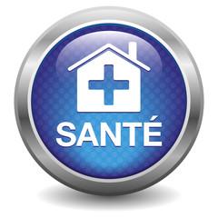 Bouton Santé bleu