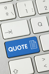 Quote keyboard key