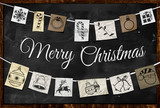 Hanging Christmas greeting paper ornament