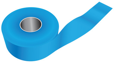 Blue industrial tape