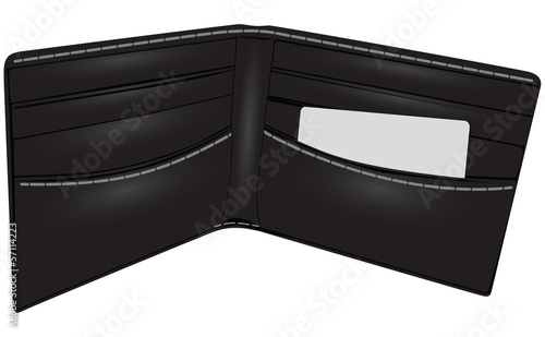 Black wallet business card