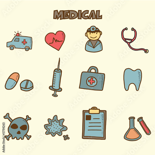 medical doodles icon