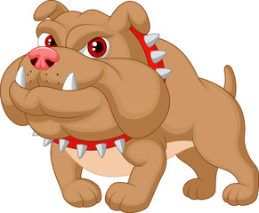 Illustration of bulldog cartoon