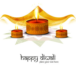 Happy diwali beautiful festival greeting card illustration vecto