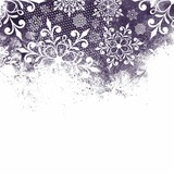 Christmas background with snowflakes. Monochrome background.