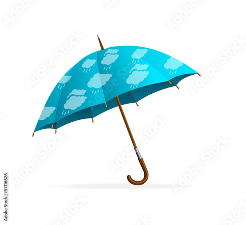 Blue Umbrella and clouds