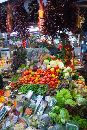 vegetables on  market counter