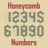 Vector honeycomb pattern numbers template