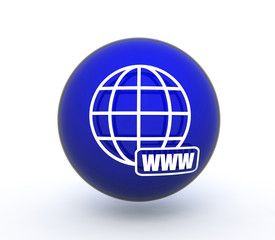 www sphere icon on white background