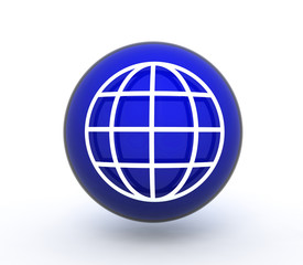 globe sphere icon on white background