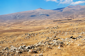 stone plateau of Zorats Karer in Armenia