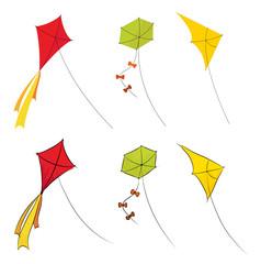 Vector autumn kites