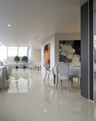 Penthouse Restaurant Design (focus)