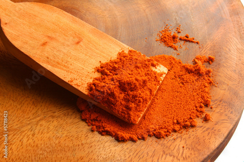 Chills powder with wood spoon