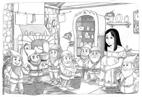 The sketch coloring page - artistic style fairy tale - 57119035