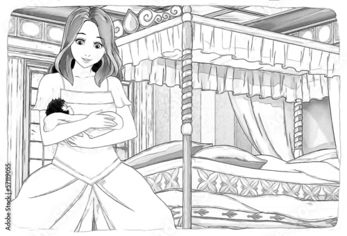 The sketch coloring page - artistic style fairy tale - 57119055