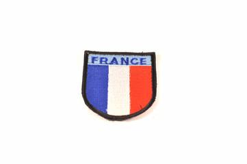 France flag emblem isolated on white background