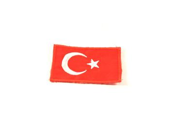 Turkey flag emblem isolated on white background