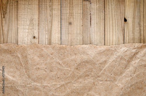 Old wooden and paper background