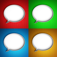 Set of message icons