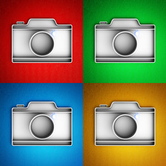Set of camera icons