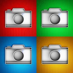 Set of camera icons