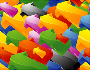 Color arrows. Seamless background. Vector.