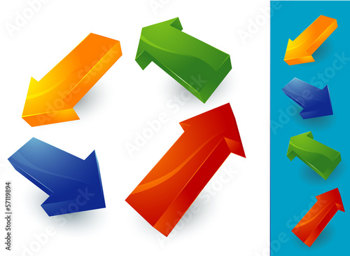 Color arrows. Vector.