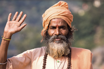 Indian sadhu welcomes