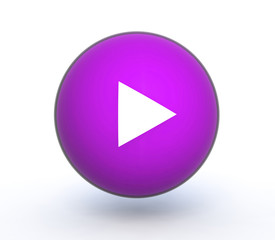 play sphere icon on white background