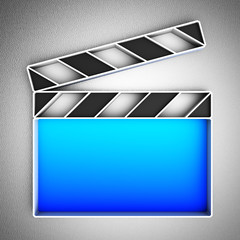 Video icon. Clapperboard.