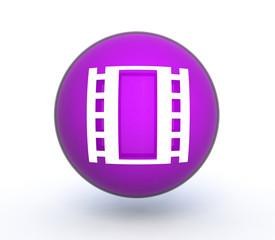 film sphere icon on white background