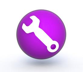 tools sphere icon on white background